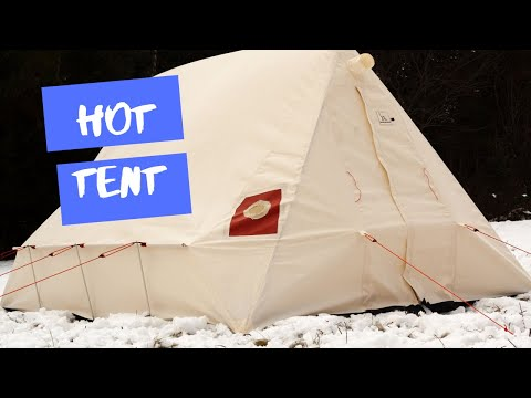 3 day Winter Camping trip to Queen Elizabeth Provincial Park With Snowtrekker Hot Tent