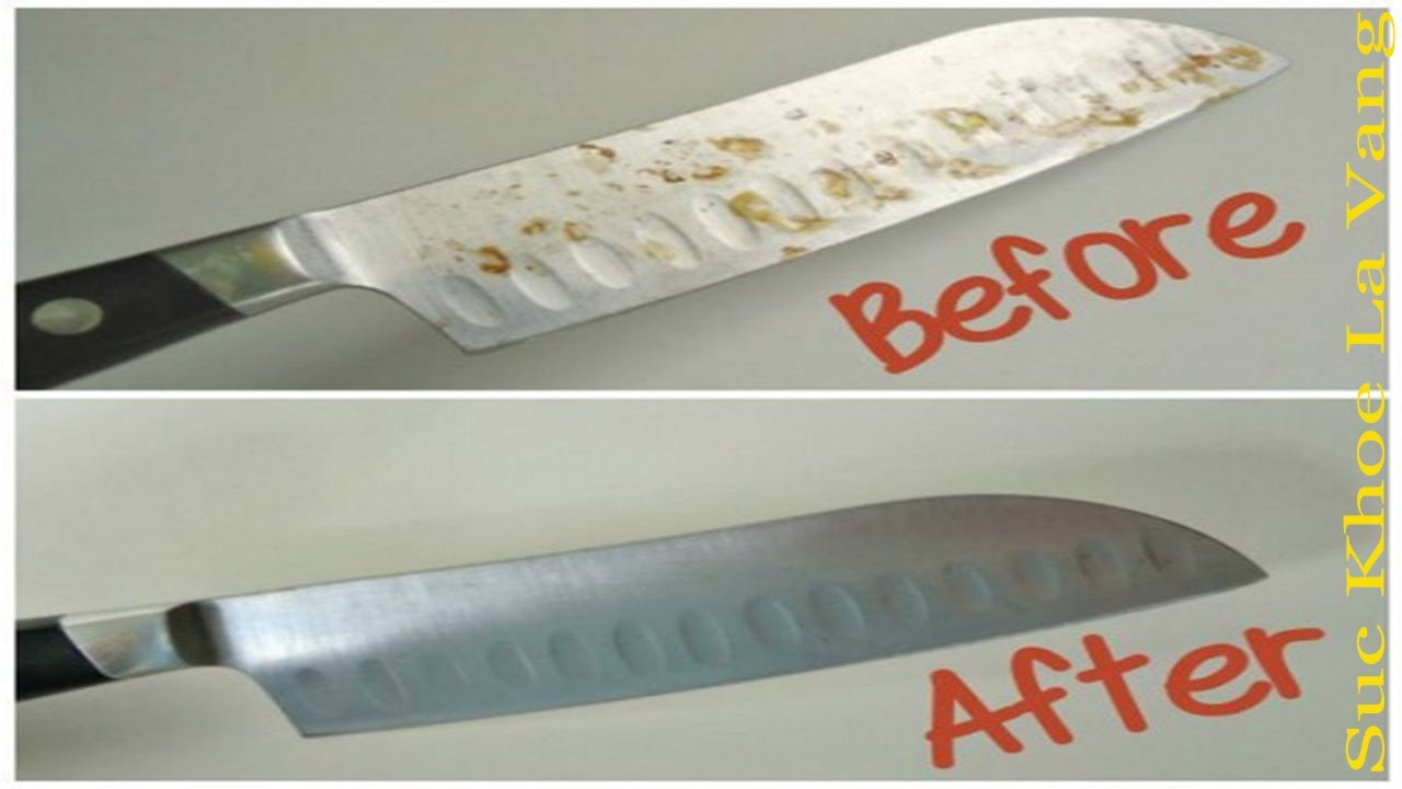 Cách tẩy sạch các vết rỉ sét, cứ xem video này là khôi phục được như mới