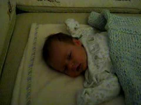 Isaac's first night in his own room