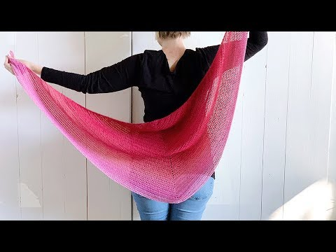 Easy Triangle Shawl Free Crochet Pattern Youtube