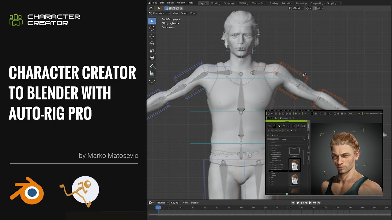 blender animation - character creatorcc to blender with auto rig pro