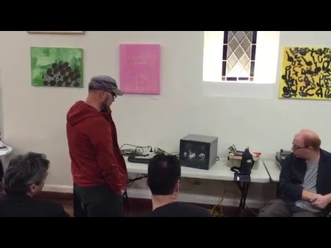 Dub CRT Commodore 64 at Adelaide Retro Computing Group April 2016