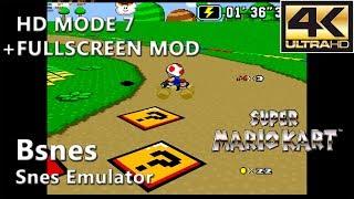 Bsnes 107.2 (HD Mode 7) | Super Mario Kart (4K Gameplay) #2