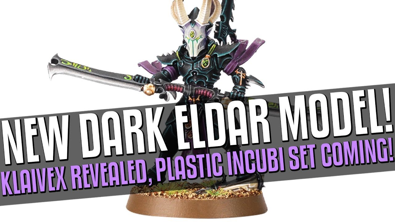 New DARK ELDAR Model Revealed! Plastic Incubi set incoming!