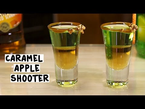 Caramel Apple Shooter - Tipsy Bartender