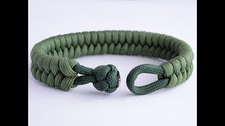 "How to Make a Fishtail Knot and Loop Paracord Survival Bracelet ""Clean Way"""