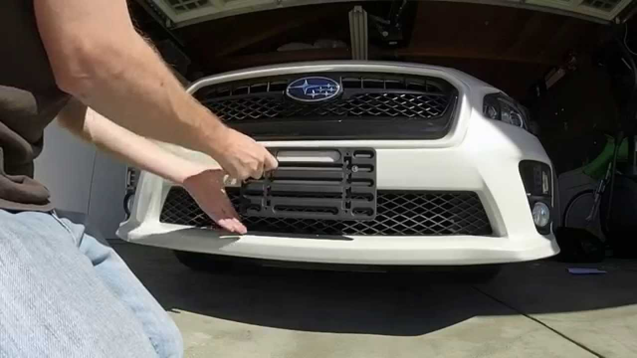 2015 Subaru WRX Limited Ep. 12 No-Drill Front License Plate Holder - YouTube & 2015 Subaru WRX Limited: Ep. 12: No-Drill Front License Plate Holder ...