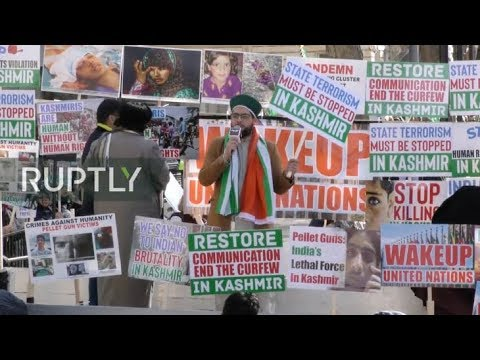 LIVE: Pro-Kashmir Protesters march in London on Diwali