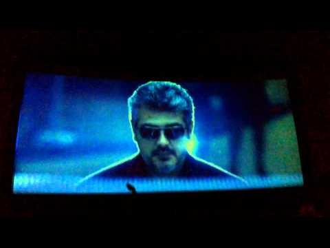 Bangalore natraj theatre celebration arrambam ajith intro