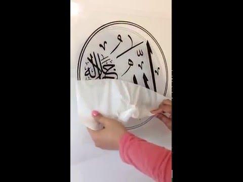 Applying vinyl wall decals