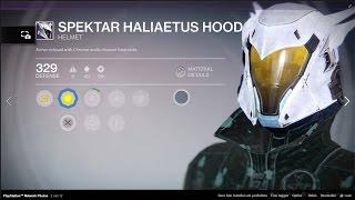 Destiny Spektar Haliaetus Hood Legendary Helmet 329 Lights!Crucible & Lord Shaxx Rewards & more!