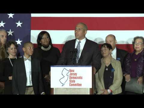 Senator Cory Booker - Election Night 2014