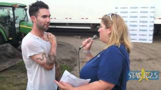 Karess Carter Interviews Adam Levine of Maroon 5 - STAR 102.5