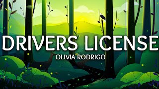 Olivia Rodrigo ‒ driver's license (Lyrics)