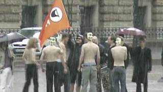 Anonymous Hamburg @ Pirate Protest against Internet Censorship in Germany 20th June 09 #Zensursula