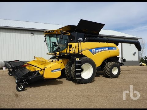 (3) 2017 New Holland CR9.90 Combines (Unused) Sold on Manitoba Farm Auction Yesterday