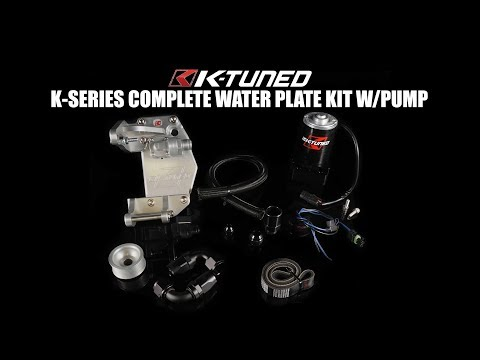K-TUNED K-SERIES WATER PLATE COMPLETE KIT W/ ELECTRIC PUMP