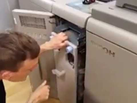 Ricoh 7110 Easy paper Jam removal thanks to purge tray