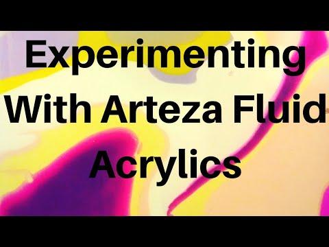 """Acrylic Fluid Pour tutorial """"Puddle Pour"""" & Experimenting with Arteza Pour Paints"""