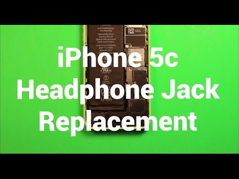 iPhone 5c Headphone Audio Jack Replacement How To Change