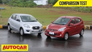 Hyundai Eon 1.0 vs Datsun Go | Comparison Test | Autocar India