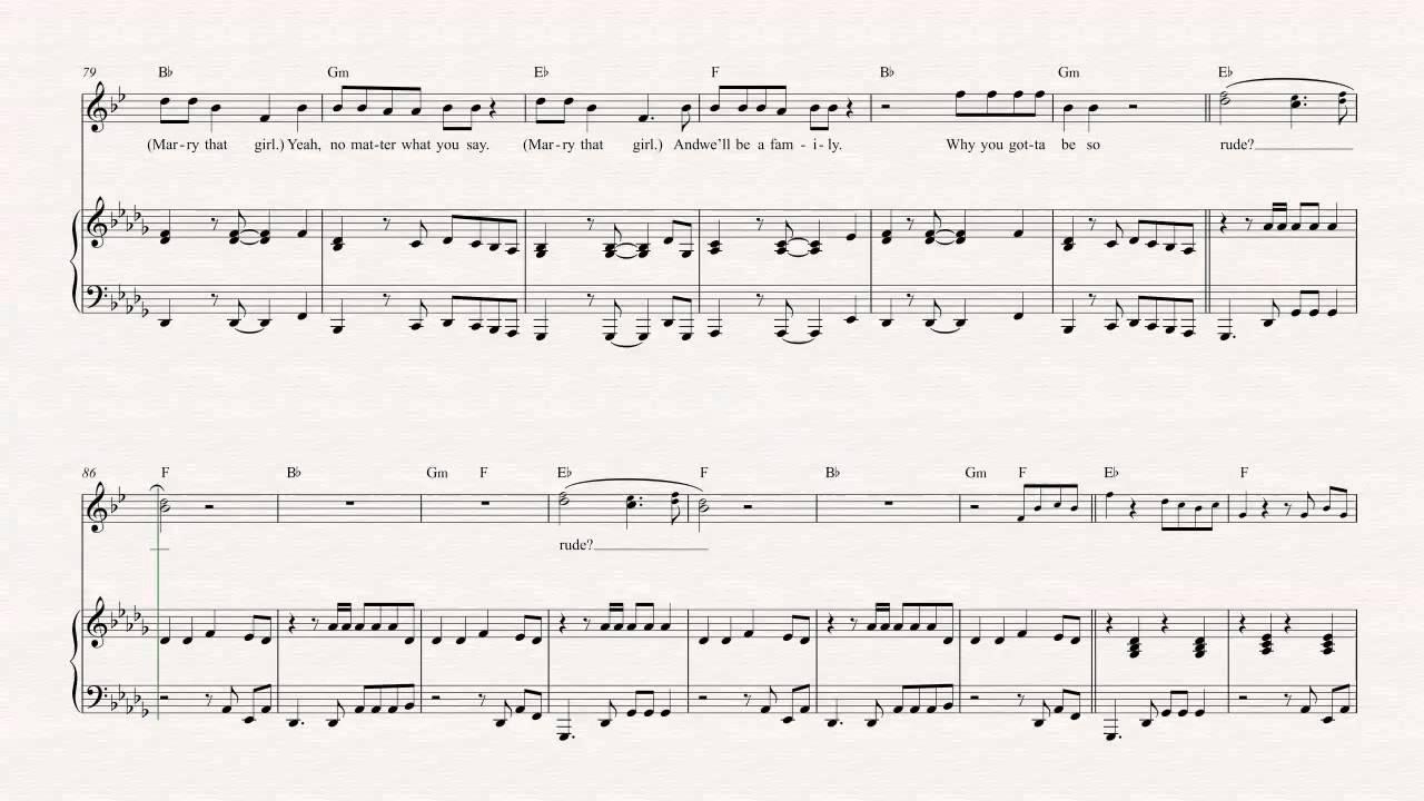 24k magic sheet music pdf
