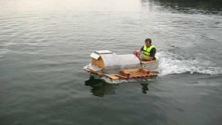 Homemade Wooden Motor Boat