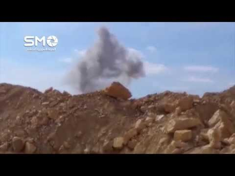 Russian air force launching airstrikes on militant positions in the eastern Qalamoun mountains