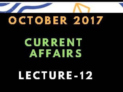 Current Affairs in Telugu | October 2017 - Lec 12 [National and International]] APPSC,TSPSC,SSC,IBPS