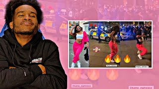 Kamo Mphela dancing in the streets of LONDON UK   REACTION
