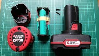 Lidl Parkside 12V Power Tool Battery Stripdown - Very Revealing