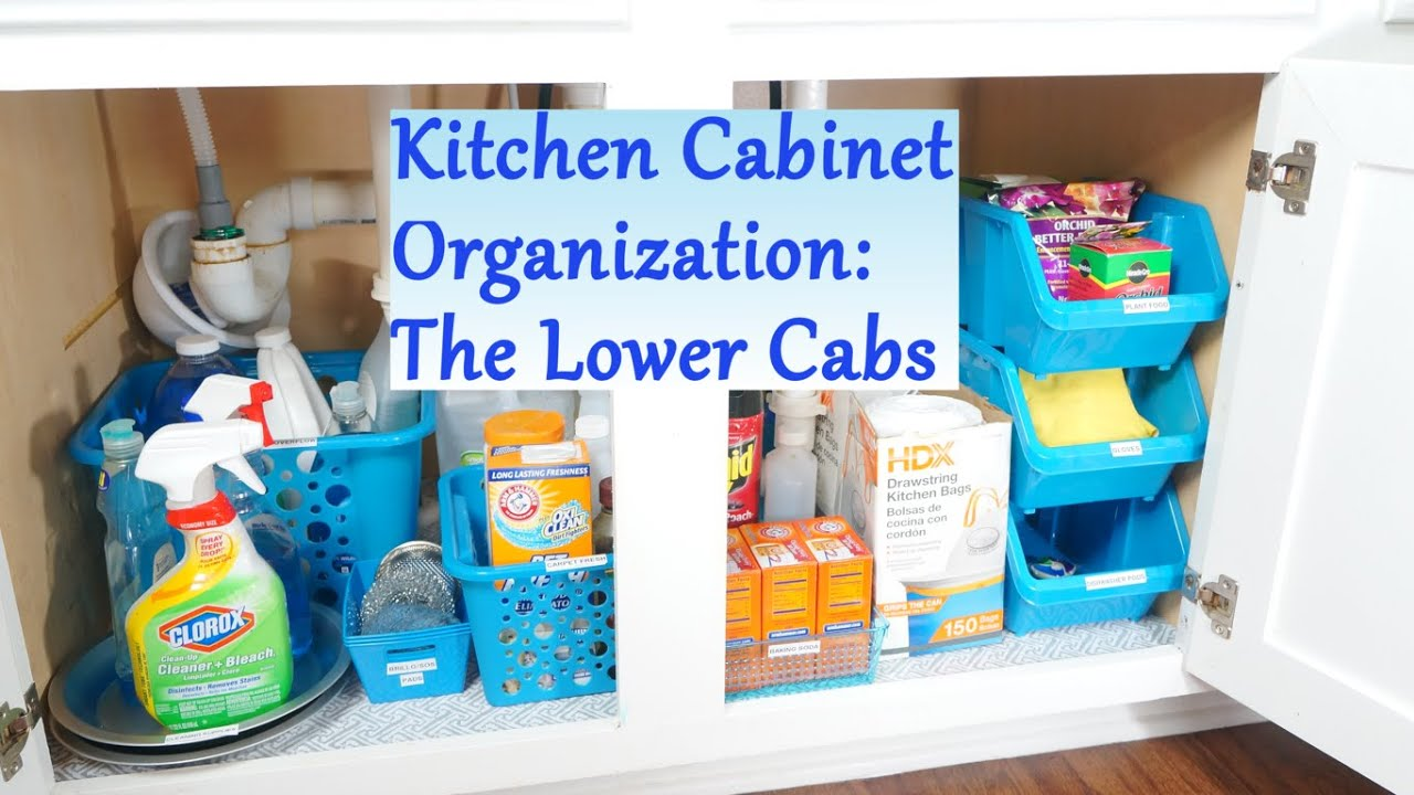 Kitchen Cabinet Organization Ideas: The Lower Cabs   YouTube