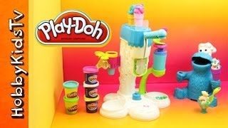 Ice Cream Play Doh Sweet Shoppe with Cookie Monster - Toy Review and Play