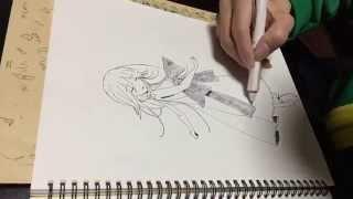 「ニーア レプリカント/ゲシュタルト」のヨナを模写してみました ラスボ...