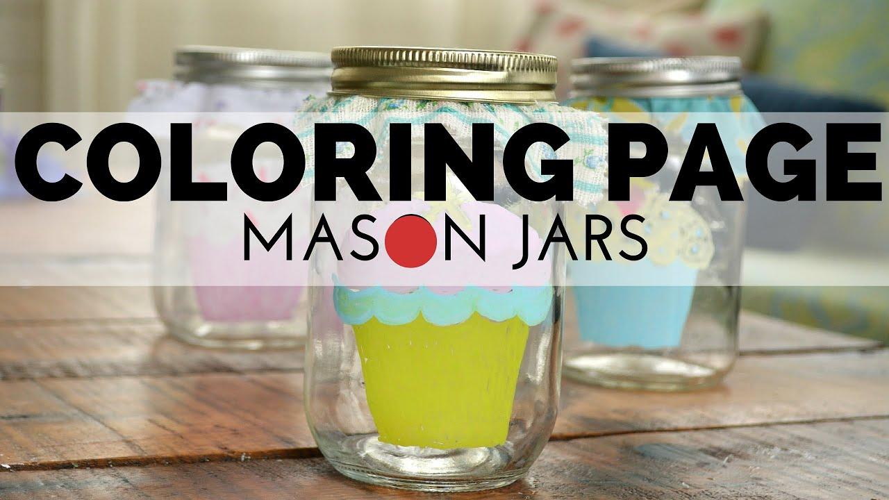 How To Make A Coloring Page Mason Jar
