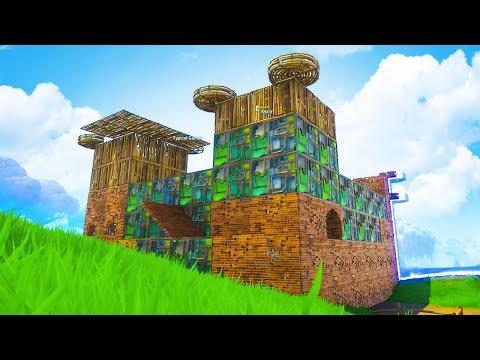 BUILDING THE BIGGEST CASTLE In Fortnite Battle Royale