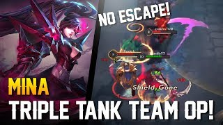 Strike of Kings: TRIPLE TANK TEAM OP!! Mina Gameplay