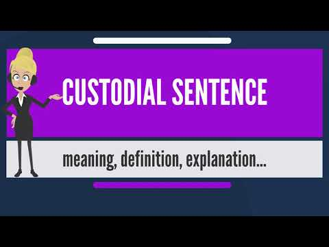 What is CUSTODIAL SENTENCE? What does CUSTODIAL SENTENCE mean? CUSTODIAL SENTENCE meaning