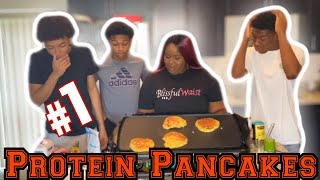 """HOW TO"" FLUFFY BANANA PROTEIN PANCAKES 