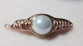 (Tutorial) Herringbone Wire Wrapped Pearl PART 1 (Video 75)