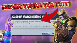 FORTNITE: PRIVATE SERVER PARTITE TO PREMI SKIN GIFT!