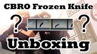 Roblox Cbro Case Unboxing Frozen Dream Knives From Youtube