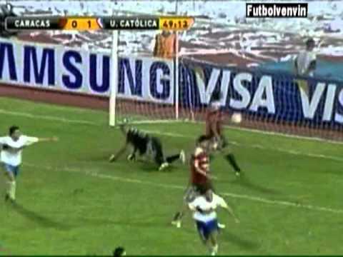 Goles Caracas FC - Universidad Catolica. Copa Libe...