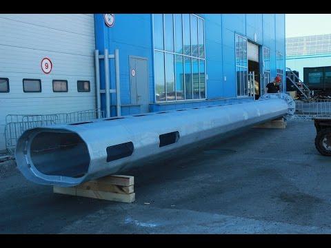 КТЦ Металлоконструкция: опора высотой 12 метров и весом 3200 кг - изготовление и цинкование.