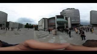 dogajanje pri cankarjevem domu (360 video).
