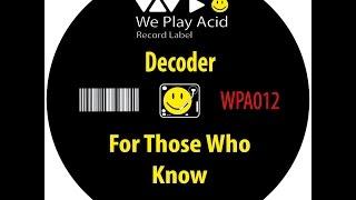 Decoder - Dunkelschwarz (Original Mix)