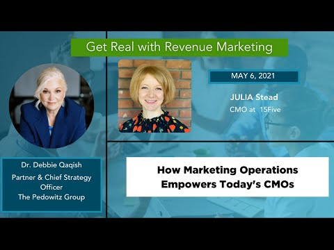 How MOPs empowers today's CMO's | Julia Stead, CMO 15Five