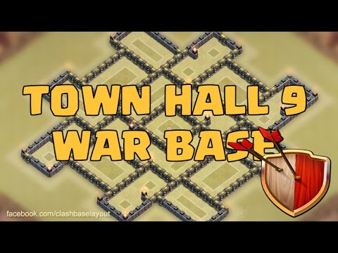 Clash of clans - Town hall 9 (TH9) War Base (Rattan) + Replay of TH10 Raid by All Combos