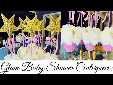 DIY| Glam Dollar Tree DIY Baby Shower Centerpiece |Twinkle Twinkle Little Star Baby Shower Under $10