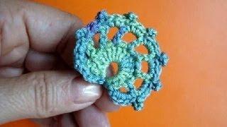 Листики Ирландское кружево Урок315 Irich lace crochet leaf pattern for free